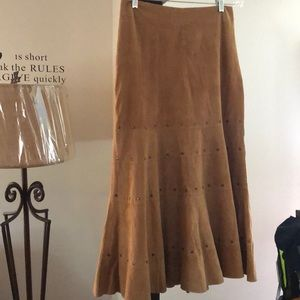CHICO'S suede skirt